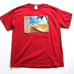 Vtg Single Stitch Hawaii Surfer Beach T Shirt